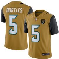 Men's Jacksonville Jaguars #5 Blake Bortles Nike Gold Color Rush Limited Jersey