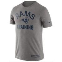 Men's Los Angeles Rams Nike Heathered Gray Training Performance T-Shirt