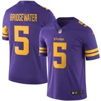 Men's Minnesota Vikings #5 Teddy Bridgewater Nike Purple Color Rush Limited Jersey
