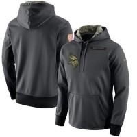 Men's Minnesota Vikings Nike Anthracite Salute to Service Player Performance Hoodie