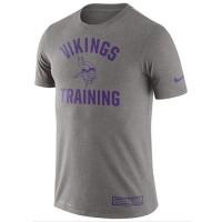 Men's Minnesota Vikings Nike Heathered Gray Training Performance T-Shirt