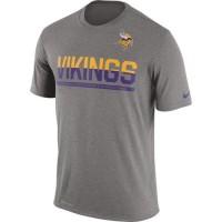 Men's Minnesota Vikings Nike Practice Legend Performance T-Shirt Grey