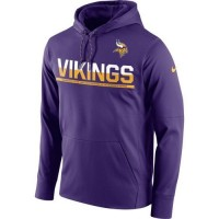 Men's Minnesota Vikings Nike Purple Sideline Circuit Pullover Performance Hooded Sweatshirt