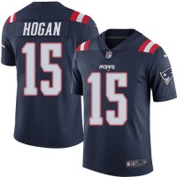 Men's New England Patriots #15 Chris Hogan Nike Navy Color Rush Limited Jersey
