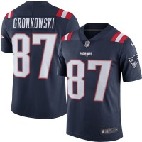 Men's New England Patriots #87 Rob Gronkowski Nike Navy Color Rush Limited Jersey