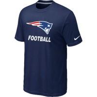 Men's New England Patriots Football Authentic Nike T-shirt Blue