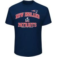 Men's New England Patriots Majestic Navy Super Bowl LI Bound Heart & Soul Going to the Super Bowl T-Shirt