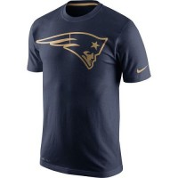 Men's New England Patriots Nike Navy Championship Drive Gold Collection Performance T-Shirt