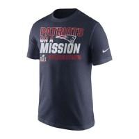 Men's New England Patriots Nike Navy Super Bowl LI Bound On a Mission T-Shirt