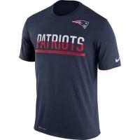 Men's New England Patriots Nike Practice Legend Performance T-Shirt Navy