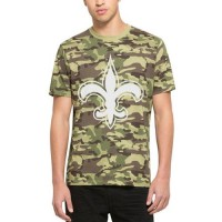 Men's New Orleans Saints '47 Camo Alpha T-Shirt