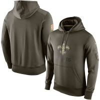 Men's New Orleans Saints Nike Olive Salute To Service KO Performance Hoodie