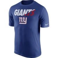 Men's New York Giants Nike Royal Blue Legend Staff Practice Performance T-Shirt