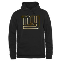 Men's New York Giants Pro Line Black Gold Collection Pullover Hoodie