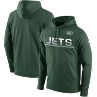 Men's New York Jets Nike Green Sideline Circuit Pullover Performance Hoodie