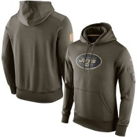 Men's New York Jets Nike Olive Salute To Service KO Performance Hoodie