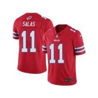 Men's Nike Buffalo Bills #11 Greg Salas Elite Red Rush NFL Jersey