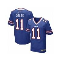 Men's Nike Buffalo Bills #11 Greg Salas Elite Royal Blue Team Color NFL Jersey