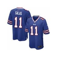 Men's Nike Buffalo Bills #11 Greg Salas Game Royal Blue Team Color NFL Jersey