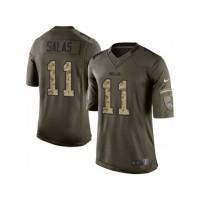 Men's Nike Buffalo Bills #11 Greg Salas Limited Green Salute to Service NFL Jersey