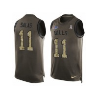 Men's Nike Buffalo Bills #11 Greg Salas Limited Green Salute to Service Tank Top NFL Jersey