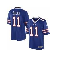 Men's Nike Buffalo Bills #11 Greg Salas Limited Royal Blue Team Color NFL Jersey