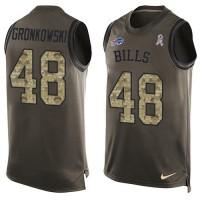 Men's Nike Buffalo Bills #48 Glenn Gronkowski Green Limited Salute to Service Tank Top NFL Jersey