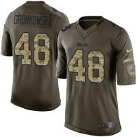 Men's Nike Buffalo Bills #48 Glenn Gronkowski Green Salute to Service Limited NFL Jersey