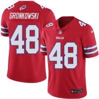 Men's Nike Buffalo Bills #48 Glenn Gronkowski Red Elite Rush NFL Jersey
