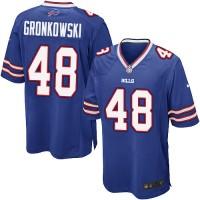 Men's Nike Buffalo Bills #48 Glenn Gronkowski Royal Blue Game NFL Jersey