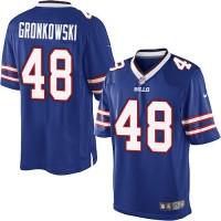 Men's Nike Buffalo Bills #48 Glenn Gronkowski Royal Blue Limited NFL Jersey