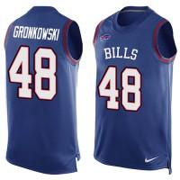 Men's Nike Buffalo Bills #48 Glenn Gronkowski Royal Blue Limited Player Name & Number Tank Top NFL Jersey