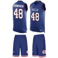 Men's Nike Buffalo Bills #48 Glenn Gronkowski Royal Blue Limited Tank Top Suit NFL Jersey