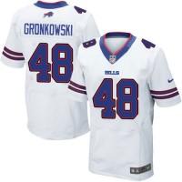 Men's Nike Buffalo Bills #48 Glenn Gronkowski White Elite NFL Jersey