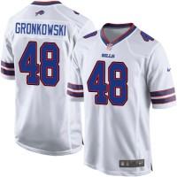 Men's Nike Buffalo Bills #48 Glenn Gronkowski White Game NFL Jersey