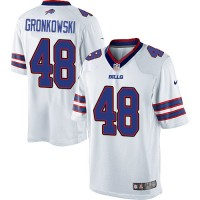 Men's Nike Buffalo Bills #48 Glenn Gronkowski White Limited NFL Jersey