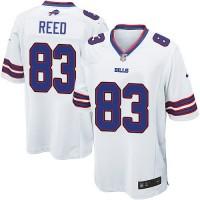Men's Nike Buffalo Bills #83 Andre Reed White Game Jersey