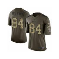 Men's Nike Buffalo Bills #84 Nick O'Leary Limited Green Salute to Service NFL Jersey
