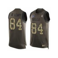Men's Nike Buffalo Bills #84 Nick O'Leary Limited Green Salute to Service Tank Top NFL Jersey
