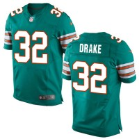 Men's Nike Miami Dolphins #32 Kenyan Drake Elite Aqua Green Alternate NFL Jersey