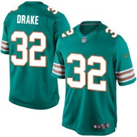 Men's Nike Miami Dolphins #32 Kenyan Drake Limited Aqua Green Alternate NFL Jersey