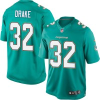 Men's Nike Miami Dolphins #32 Kenyan Drake Limited Aqua Green Team Color NFL Jersey