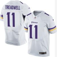 Men's Nike Minnesota Vikings #11 Laquon Treadwell Elite White NFL Jersey