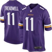Men's Nike Minnesota Vikings #11 Laquon Treadwell Game Purple Team Color NFL Jersey