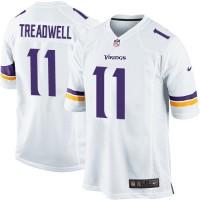 Men's Nike Minnesota Vikings #11 Laquon Treadwell Game White NFL Jersey