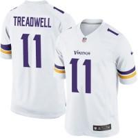 Men's Nike Minnesota Vikings #11 Laquon Treadwell Limited White NFL Jersey