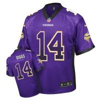 Men's Nike Minnesota Vikings #14 Stefon Diggs Elite Purple Drift Fashion NFL Jersey