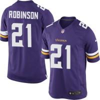Men's Nike Minnesota Vikings #21 Josh Robinson Purple Stitched NFL Limited Jersey