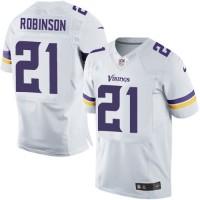 Men's Nike Minnesota Vikings #21 Josh Robinson White Stitched NFL Elite Jersey