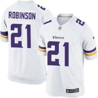 Men's Nike Minnesota Vikings #21 Josh Robinson White Stitched NFL Limited Jersey